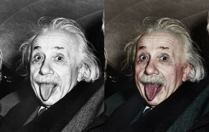 Albert Einstein Sticking Out His Tongue